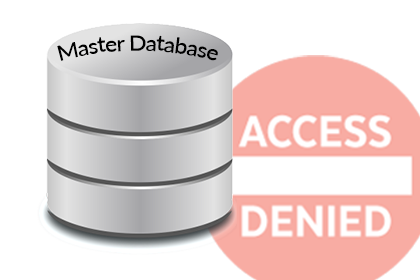 create database permission denied in database 'master' error 262