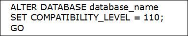 Alteration in Compatibility Level