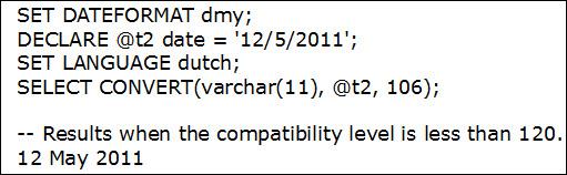 Setting Language Under Value 120: