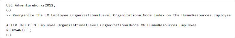 reorganize index