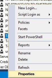 Reset User Password in SQL Server 2016