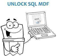 unlock sql mdf