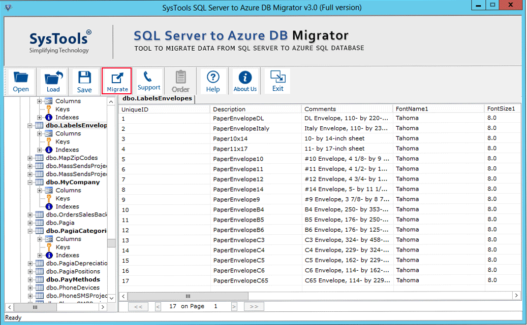 SQL  to Azure