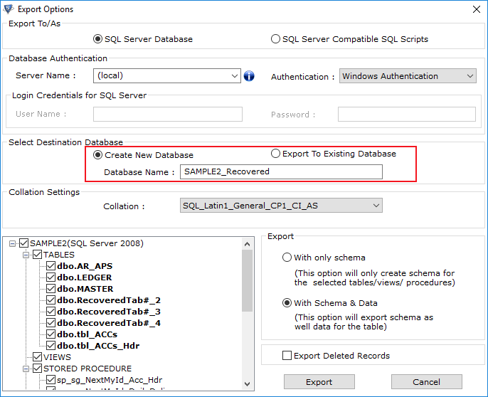 Recover Corrupt SQL Database File